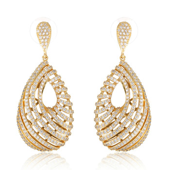GrayBirds New Fringe Shape Water Drop Earrings For Women Luxury Jewelry Gifts For Mother's days MLE034