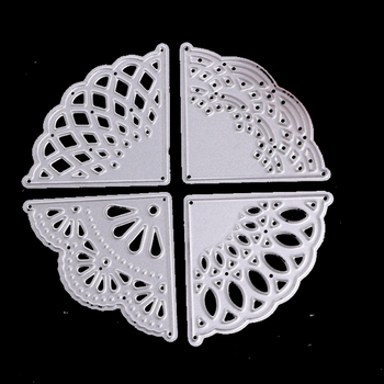 Corner Flowers Metal Cutting Dies Lace Border Scrapbooking Cuts DIY Paper Card Craft New Year Decoration snijmal en embossing