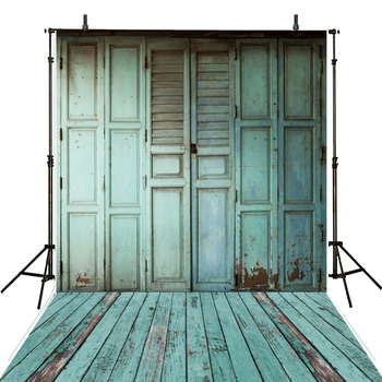 Hot Wooden Floor Photography Backdrops Blue Vinyl Backdrop For Photography Kids Background For Photo Studio Foto Achtergrond