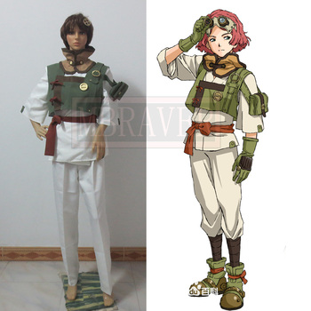 Custom Made of Kabaneri Demir Fortress Yukina Cosplay kostüm
