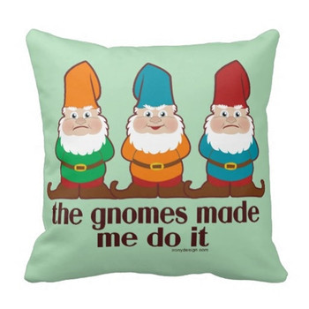 No.91-120 Me Do It Yapilan Gnomes Yastık kılıfı