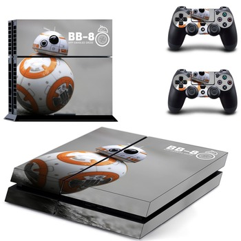 Ps4 Konsol Cilt Çıkartması Sticker STAR WARS BB-8 + 2 Kontrolör Skins Set