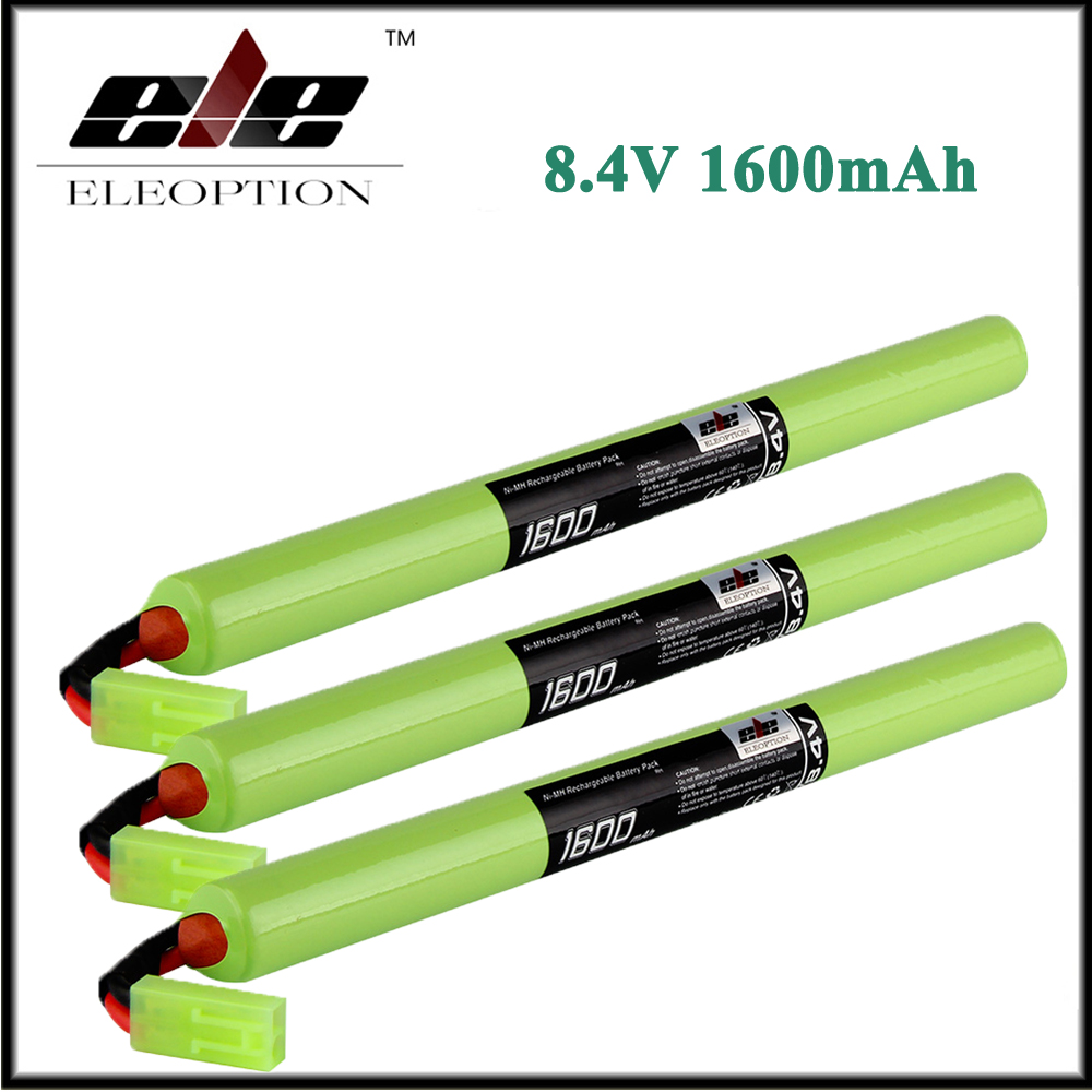 3x Eleoption 8.4 V Tenergy 1600 mAh Ni-Mh Sopa Mini Pil Paketi Mini Tamiya Connector ile Airsoft için gun