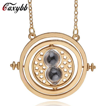 Caxybb Rotating Hourglass Hermione Granger Vintage Hourglass Pendant Necklace for Lady Girl Women Wholesale